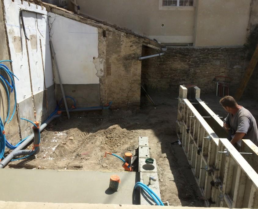 dalles et murs sanitaires